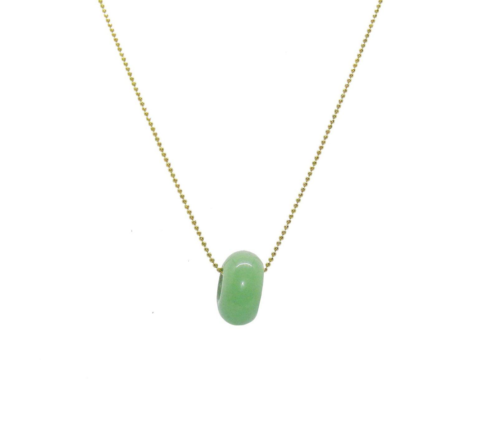 Collar con aventurina verde en forma de dona
