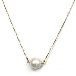 Collar basico de perla de rio 10mm