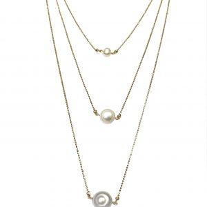 Layer de perlas en los tres tamaño diferentes